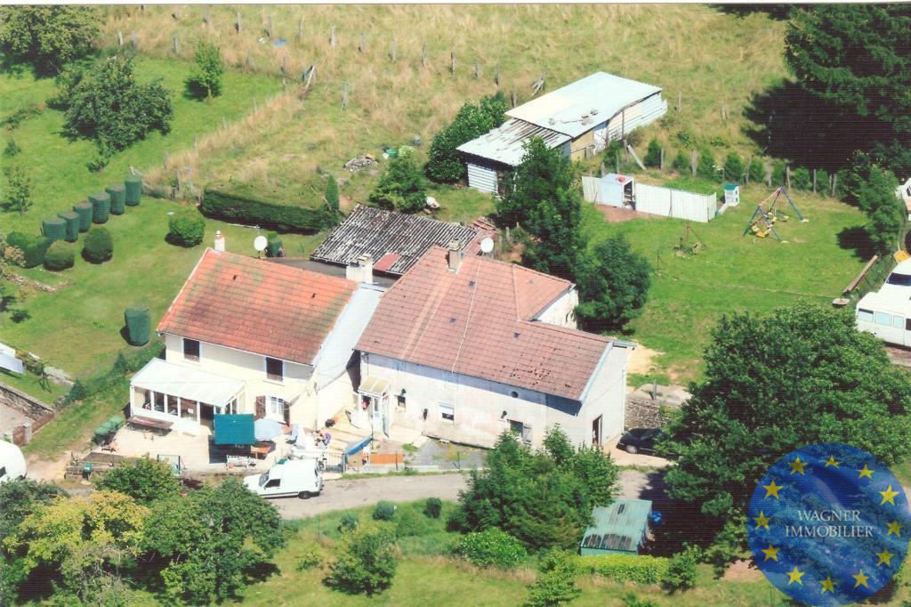 Vente Maison Proche autoroute Blâmont et Center Parc, sur beau terrain clos et arboré de 40 ares, maison de village ...  à Blamont
